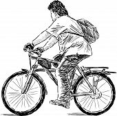 Teen On A Cycle.eps