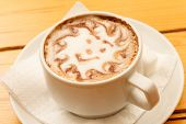 image of scum  - Morning Cup cappuccino with smile - JPG