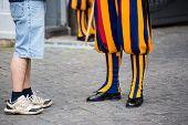 Swiss Guard In Vatican