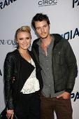 LOS ANGELES - AUG 8:  Emily Osment, Nathan Keyes arrives at the