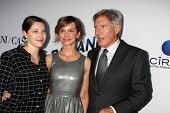 LOS ANGELES - AUG 8: Georgia Ford, Calista Flockhart, Harrison Ford kommt bei der
