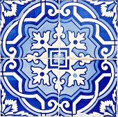 Old Traditional Portuguese Azulejos