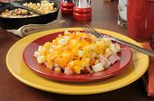 Southern Style Hash Browns With Ham And Cheese