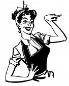 picture of homemaker  - Pointing Housewife  - JPG