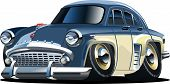 Vector Cartoon coche Retro