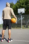 Basketball Player on Court