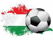 Hungary Soccer Grunge Design
