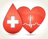 Heart-rhythm-blood-cross-illustration