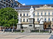 The Monument To Andrew The First Called, Princess Olga, Cyril And Methodius, Kiev.
