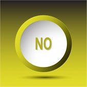 No. Plastic button. Raster illustration.