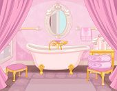 Bathroom in the castle of the princess