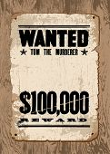 Vector Wanted Poster template. All pieces are separated and are easy to edit.