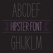 stock photo of hand alphabet  - Modern minimal hipster font alphabet - JPG