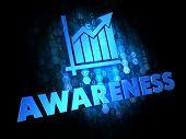 Awareness Concept on Dark Digital Background.