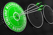 Online Business Slogan - Green Target.