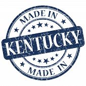 Made In Kentucky Blue Round Grunge Isolated Stamp
