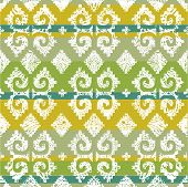 Vector grunge Mexican seamless pattern