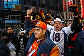 Denver Broncos fans join the festivities