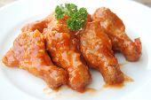 chicken thigh admixed sweet  Asian sauce