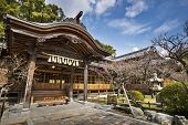 Japanese shrine building in Dazaifu, Kyushu, Japan.