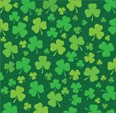 foto of shamrocks  - vector illustration of a seamless shamrock background - JPG