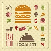 Fastfood Infographic Template.