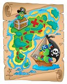 Treasure map theme image 8 - eps10 vector illustration.
