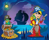Pirate cove theme image 9 - eps10 vector illustration.