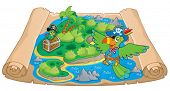 Treasure map theme image 6 - eps10 vector illustration.