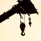 The crane hook silhouette