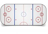 detailed illustration of an icehockey court, eps10 vector