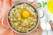 Minced meat with egg