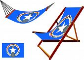 Northern Mariana Islands Hammock And Deck Chair Set