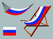 Russian Federation Hammock And Deck Chair Set