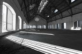 An Empty Desolate Industrial Building Inside
