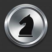 Knight Icon on Metallic Button Collection