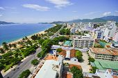 Beach Scene, Tropics, Pacific Ocean City View, Natrang Vietnam