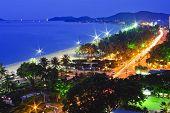 Beach Scene, Tropics, Pacific Ocean Night View, Natrang Vietnam