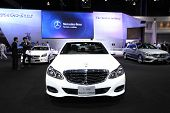 Nonthaburi - November 28:mercedes-benz E 300 Bluetec Hybrid Car On Display At The 30Th Thailand Inte