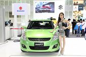 Nonthaburi - November 28: Suzuki Swift Car With Unidentified Model On Display At The 30Th Thailand I