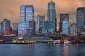 Seattle Harbor Sunset Img_7003