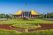 Taipei, Taiwan at Dr. Sun Yat-sen Memorial Hall gardens.