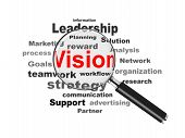 Business Vision And Magnifying Glass
