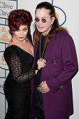 BEVERLY HILLS, CA. - JANUARY 25: Sharon & Ozzy Osbourne arrive at the Clive Davis & The Recording Academy annual Pre-GRAMMY Gala on January 25th 2014 at the Beverly Hilton in Beverly Hills.