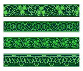 seamless borders with shamrock
