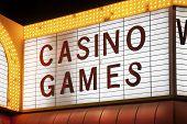 Casino Games Sign