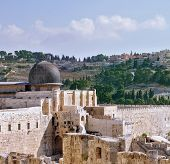 picture of aqsa  - The walls of Jerusalem - JPG