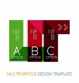 Transparent geometric shaped multipurpose templates. Vector business / technology infographic