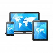 Mobile phone, tablet pc and laptop