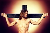 Jesus Christ of Nazareth on the cross.
